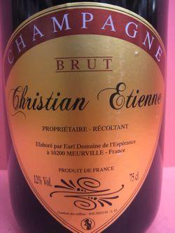 クリスチャン・エティエンヌ ・シャンパンニュ・ブリュット